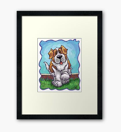 Animal Parade St. Bernard Framed Print