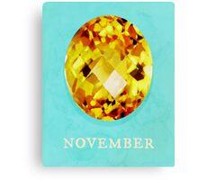 Watercolor Birthstone Gems, November Canvas Print