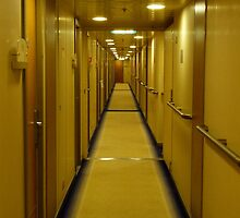 Corridor. Cruise Ship. by David Dutton
