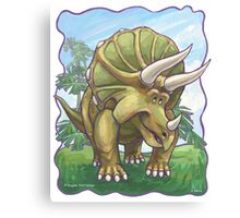 Animal Parade Triceratops Canvas Print