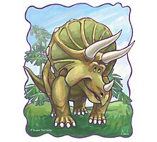 Animal Parade Triceratops Photographic Print