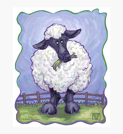 Animal Parade Sheep Photographic Print