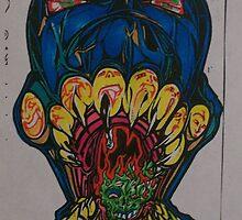 the blue skull.002. by Alabamaenoch