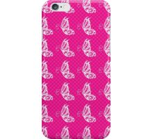 Fluttering Butterflies - Hot Pink And White 2 iPhone Case/Skin