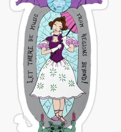 haunted lady Sticker