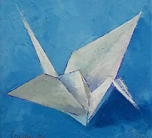 Origami Crane by Michael Creese