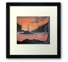 Salmon Moon  Framed Print