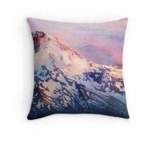 Mt. Hood Sunset Throw Pillow