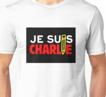 JE SUIS CHARLIE (On Square Background) Unisex T-Shirt
