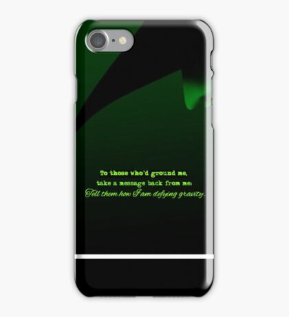 Defying Gravity iPhone Case/Skin