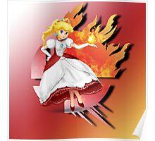 Super Smash bros Fire Princess Peach Poster