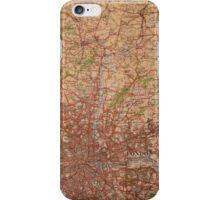 1945 vintage london map iPhone Case/Skin