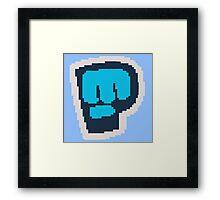 8-Bit Bro Fist  Framed Print