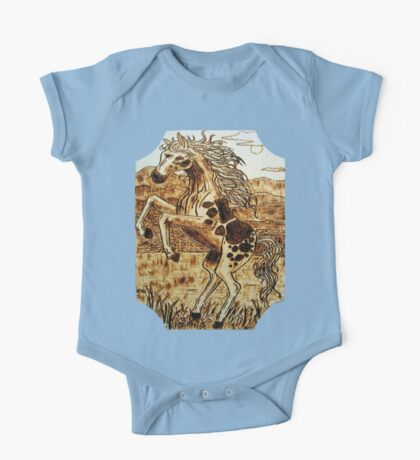 leaping mustang One Piece - Short Sleeve