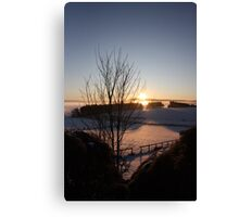 Winters morn' over Aberdeenshire Canvas Print