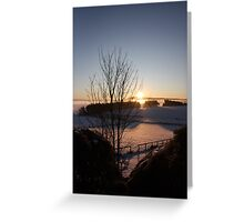 Winters morn' over Aberdeenshire Greeting Card