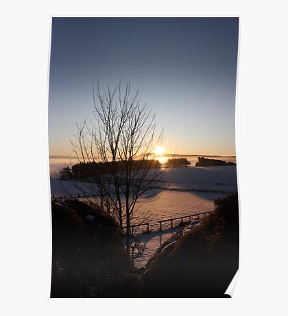 Winters morn' over Aberdeenshire Poster