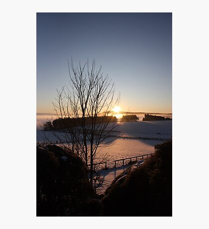 Winters morn' over Aberdeenshire Photographic Print