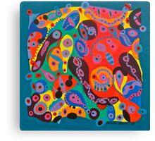 Colorful Chaos Blue Canvas Print