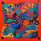 Colorful Chaos Orange by Nicole Tang Yin Leow
