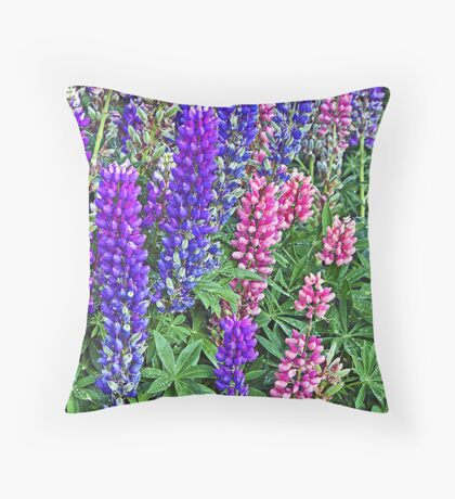 Lupine - Crested Butte, Colorado Throw Pillow