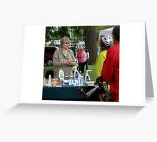 Festival Vendor Greeting Card