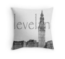 Cleveland's Landmark Throw Pillow