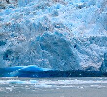 Fresh-cleaved iceberg, LeConte Glacier by stevenjay