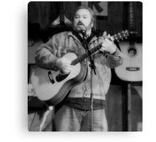 Folk Singer -Rick Novak Canvas Print