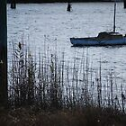 Boat at dusk - Tamar River, Launceston by Jenni Greene