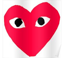 Comme Des Garcons Play CDG Heart Poster