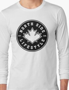 NSL Canada Black Leaf Crest Long Sleeve T-Shirt