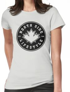 NSL Canada Black Leaf Crest Womens Fitted T-Shirt