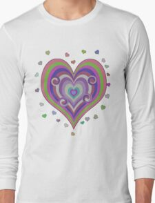 Psychedelic Hearts T-Shirt T-Shirt