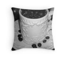 Java Beans- B&W Throw Pillow