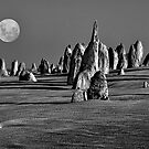 Pinnacles Moon by Ian English
