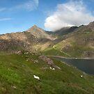 Snowdon and Llyn Llydaw panorama by eddiej