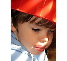 My little fireman... Photographic Print