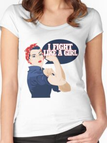 I fight like a girl Women's Fitted Scoop T-Shirt
