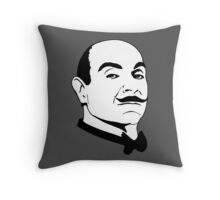 Hercules Poirot. Throw Pillow