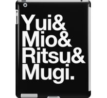 Ho-kago Tea Time - K-On goes Helvetica iPad Case/Skin