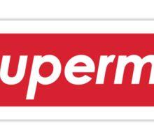SUPERME Superman X Supreme Sticker