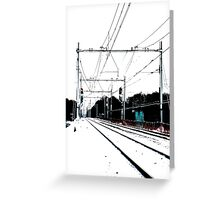 Track-in-the-snow Greeting Card
