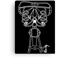 Bicycle Back View (White) Canvas Print