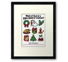 PAGAN CHRISTMAS - (Short text) Framed Print