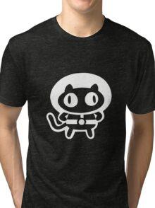 Cookie Cat - Black & White, design only Tri-blend T-Shirt