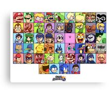 Super Smash Bros. for WiiU - Roster #1 Canvas Print