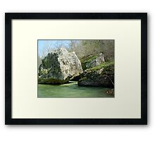 Water Flowing Through Boulders* Framed Print