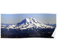 Aerial Panorama of Mount Rainier Poster