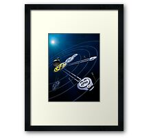 Pluto System Resonance Framed Print